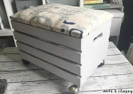 how to create a wooden crate rolling storage ottoman hometalk