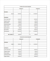 Monthly Balance Sheet Template Excel Income Statement Template Contribution Margin Income