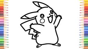 how to draw pokemon coloring pages pikachu learn colors video for