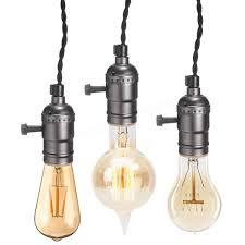 kingso e27 e26 edison socket vintage style pendant light cord