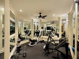 flooring ideas white painted gym wall with black rubber home gym