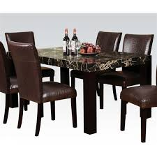 Espresso Dining Room Set by Casual Black Espresso Faux Marble Wood Dining Table 5pc Set Table