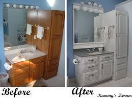 Refurbished Bathroom Vanity Kammy U0027s Korner Master Vanity Before And After For 33