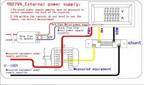 dual led digital volt meter 4 5 30v 0 50a 50a 75mv dc ac current