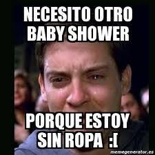 Baby Shower Memes - meme crying peter parker necesito otro baby shower porque estoy