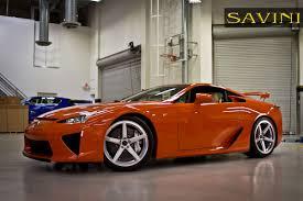 orange lexus lfa lfa savini wheels