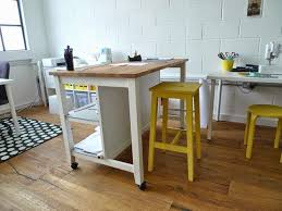 Cutting Table On Casters Stenstorp Kitchen Island Ikea Sewing