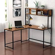 Amazoncom  Little Tree LShaped Desk with Hutch Corner Computer