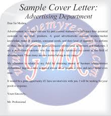 Advertising Sales Cover Letter by Cover Letter Free Samples Operations And Purchase