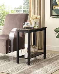 Espresso Side Table Find The Best Deals On Roundhill Furniture Lediyana Faux Marble