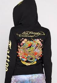 ed hardy womens hoodies death before dishonor in black 64 00
