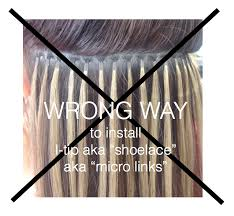 i tip hair extensions proper way to install hair extensions with micro rings