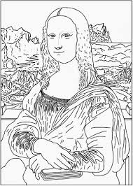 enchanted learning da vinci mona lisa coloring page leonardo
