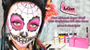 airbrush makeup for halloween fast airbrush sugar skull makeup with graftobian trucco