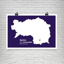 hochzeitsgeschenke personalisiert landkarte steiermark personalisierte geschenke zur hochzeit zum