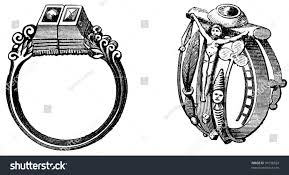 martin luther wedding ring wedding rings martin luther katharina stock photo 91638524