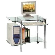 bureau pour ordinateur inside 75 desktop bureau pour ordinateur en verre transparent