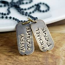 Personalized Mens Necklaces Personalized Dog Tag Necklace Hand Stamped Dog Tag Necklace Dog