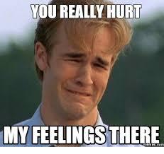 Hurt Feelings Meme - 25 best memes about meme hurt feelings meme hurt feelings memes