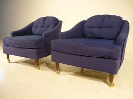 70 S Style Furniture 70s by 2 Mid 20th Century Modern Baughman Barrel Back Lounge Club Chairs