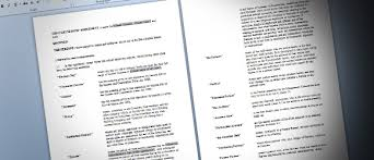 partnership agreement template for word