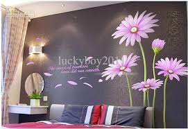 Large Wall Stickers For Living Room by Large A B Paragraph Wall Stickers Z Purple Daisies Living