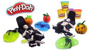 vegetable skeleton halloween play doh skeleton kinetic sand halloween pumpkin playdoh and
