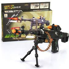 electric guns for boys toys with light sound vibration plastic
