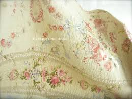 queen oversize bed quilt u0026 pillow shams set shabby french country