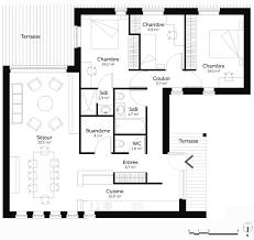 separation de cuisine sejour separation de cuisine sejour 17 plan maison plain pied 110 m178