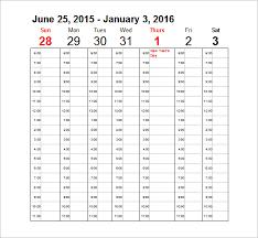sample blank calendar printable blank monthly calendar activity
