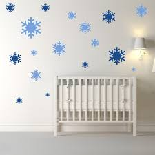 girls room wall stickers snowflakes christmas creative multipack wall stickers seasonal decor art decals