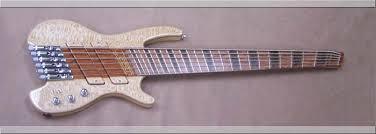 fanned fret 6 string bass watson signature series 6 string headless bass