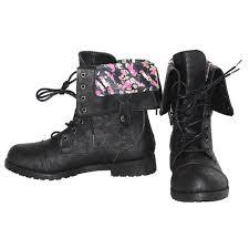 womens black combat boots size 11 cheap faux leather boots find faux leather boots deals on