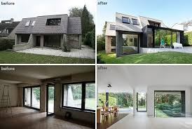 interior home renovations before and after the renovation and extension of a flemish villa