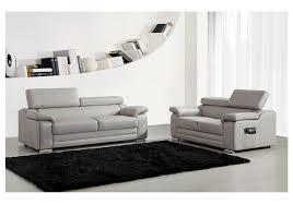 canapé 2 et 3 places ensemble canapés 2 et 3 places dakota en cuir gris canapé pas cher