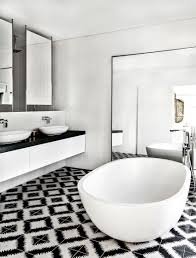 stunning bathroom with checkerboard marble floor for unique look standing black and white marble floor for unique bathroom idea
