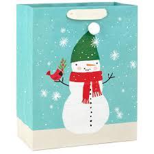 cozy snowman large christmas gift bag 13