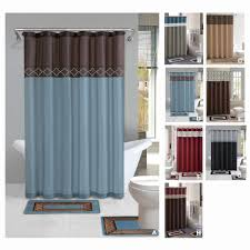 Bathroom Rugs Ideas Blue Waters Bath Set 5 Piece Coastal Nautical Decor Shower Curtain