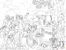 adoration of golden calf coloring page free printable coloring pages
