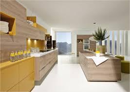 cuisine moderne bois clair design interieur idées cuisine moderne bois clair jaune doux 73