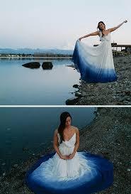 tie dye wedding dress dip dye wedding dress trend will make your big day more colorful
