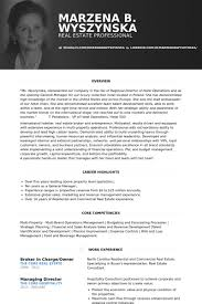 Real Estate Broker Resume Sample by Broker Resume Samples Visualcv Resume Samples Database