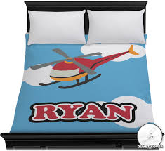 Customized Duvet Covers Helicopter Duvet Cover Personalized Potty Training Concepts