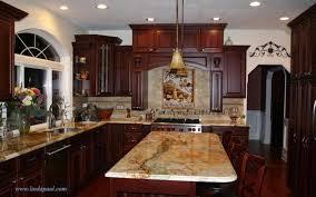 what backsplash looks with cherry cabinets free furniture refinishing kitchen backsplash ideas