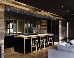 cuisine moderne et noir cuisine noir bois fabulous bureau bois et noir cuisine noir et bois