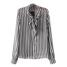 striped blouse blouse bow tie black and white stripes striped blouse office