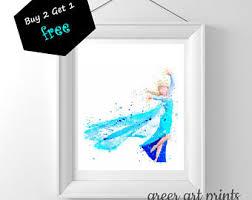 frozen elsa print frozen disney frozen wall decor frozen