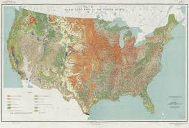 Detailed Maps Of The United States by Highly Detailed Map Of Land Use In The United States Usda 1950