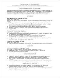 Sample Resume For A Career Change by Sample Of Resume Letter Job Cover Letter Sample For Resume Sample